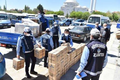 Ankara Büyükşehir'den toplu taşıma esnafına gıda ve hijyen desteği