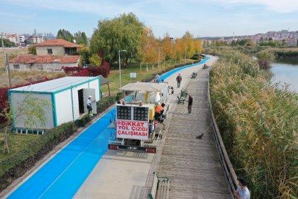 Ankara'da şehir içi bisiklet yolu çalışmaları başladı