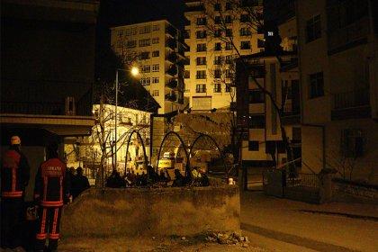 Ankara'da temeli kayan apartman nedeniyle 21 bina boşaltıldı