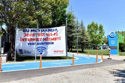 Ankara'da ücretsiz wi-fi hizmeti verilen meydan sayısı 27'ye ulaştı