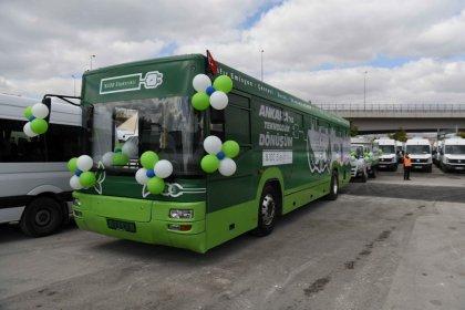 Ankara'nın eski otobüsleri elektrikliye dönüştürülüyor
