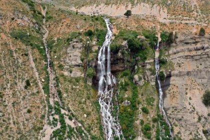 Antalya'da üç ilçeye içme suyu sağlayan Uçarsu Şelalesi kurudu