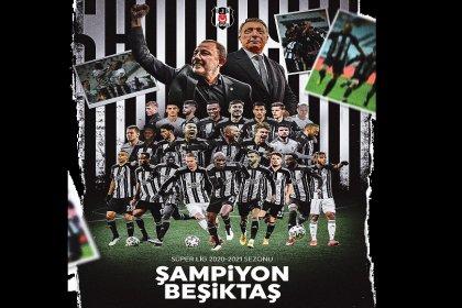 Beşiktaş Süper Lig'de 16. Şampiyonluğunu Kazandı
