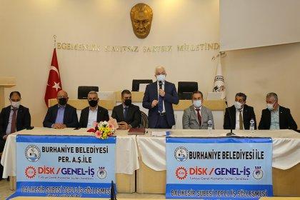 Burhaniye Belediyesi, Genel-İş Sendikası ile toplu iş sözleşmesi imzaladı