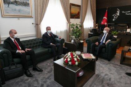 CHP lideri Kılıçdaroğlu, Akar ve Soylu'yu kabul etti