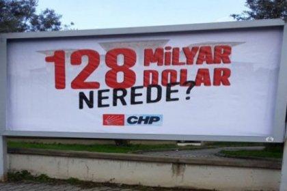 CHP'nin Kastamonu'daki '128 milyar dolar nerede?' afişine de soruşturma başlatıldı
