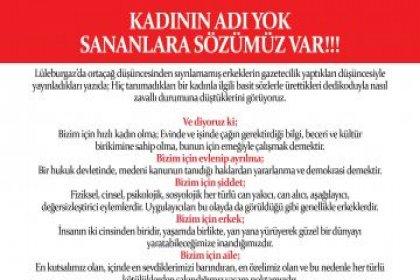 Cinsiyetçi dil kullanan yerel gazeteye Lüleburgaz Belediyesi CHP'li kadın meclis üyelerinden tepki