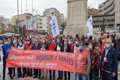 DİSK, KESK, TMMOB ve TTB'nin Ankara birimleri: Çalışırken bulaşmayan ama 1 Mayıs kutlarken bulaşan bir virüs tespit edilmemiştir