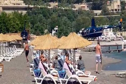 Halk plajına helikopterle inen isim, AKP'ye yakınlığıyla bilinen iş insanı Ceyhan Saldanlı çıktı