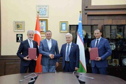 Hatay Büyükşehir Belediye Başkanı Lütfü Savaş'tan Özbekistan'a ziyaret