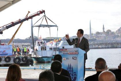 İBB'nin ürettiği deniz taksiler suya indi: 'Hizmet tutkumuzun önünde, hiçbir şey duramaz'