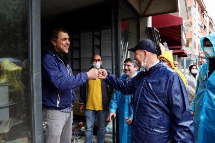 İçişleri Bakanı Soylu'dan sel felaketinin yaşandığı Bozkurt'ta ziyaret