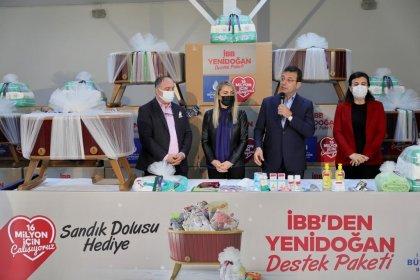 İmamoğlu, 'Yenidoğan Destek Paketi' kolilerinin dağıtımını başlattı: '1 yıl boyunca ailelerin yanında olacağız'