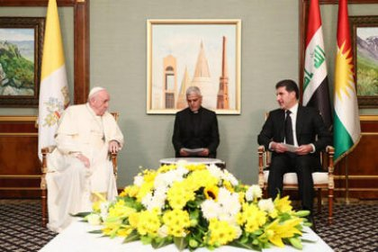 Irak ziyaretini sürdüren Papa, Erbil'de