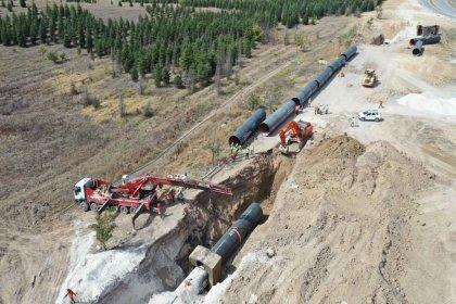 İvedik-Polatlı içme suyu hattının 21 kilometresi tamamlandı