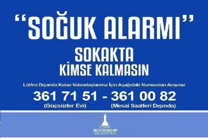 İzmir Büyükşehir Belediyesinden sokakta yaşayan vatandaşlara barınma hizmeti