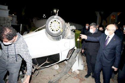 İzmir Valisi Köşger; Çeşme-Alaçatı ve Urla'da  kuvvetli yağış dolu ve hortum nedeniyle maddi hasar oluşmuş ve 16 kişi yaralandı