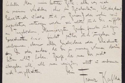 Kafka'nın elyazmaları, mektupları ve çizimlerinden oluşan koleksiyonu dijitalde erişime açıldı