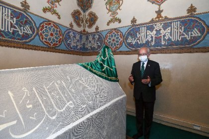 Kılıçdaroğlu, Hacı Bektaş Veli'nin dergahını ve türbesini ziyaret ederek dua etti