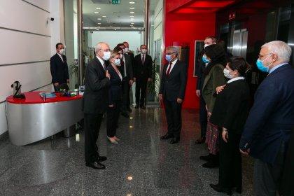 Kılıçdaroğlu, HDP Eş Genel Başkanı Mithat Sancar'la görüştü