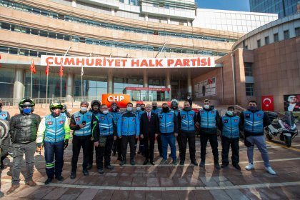 Kılıçdaroğlu, motokuryeler ile bir araya geldi