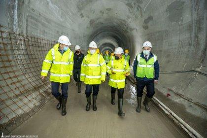 Kılıçdaroğlu Narlıdere metro hattında yapım çalışmalarını inceledi