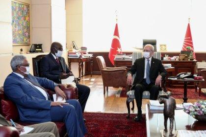 Kılıçdaroğlu, Sudan'ın Ankara Büyükelçisi'ni kabul etti