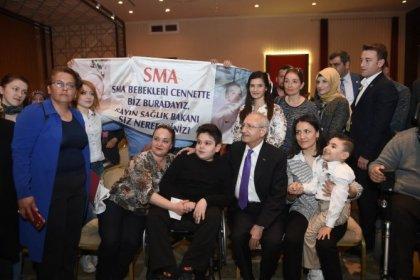 Kılıçdaroğlu'ndan SMA hastalarına destek; 'Milli Piyango'dan Varlık Fonu'na aktarılan 75 milyon ₺ SMA hastası çocuklarımız için kullanılsın!'