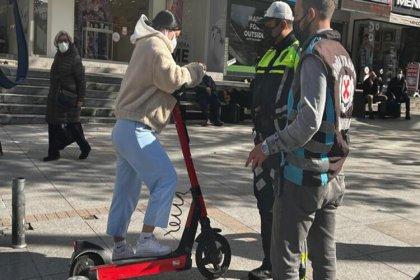 Kurallara uymayan elektrikli scooter sürücülerine ceza yağdı