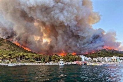 Marmaris'te ormanlık alanda yangın çıktı!