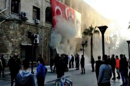 Mersin Büyükşehir Belediyesi'nde patlama: 'Molotof' şüphesi