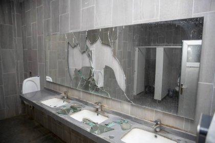 Mersin'de Kültür Park'taki tuvaletler yine tahrip edildi