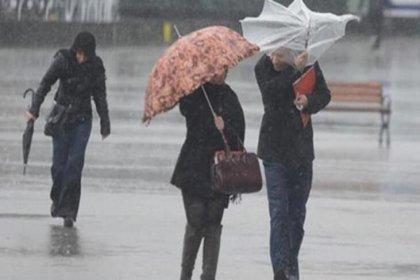 Meteoroloji'den 5 bölge için sağanak ve fırtına uyarısı