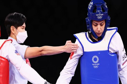 Milli tekvandocu Nur Tatar, çeyrek finalde mağlup oldu