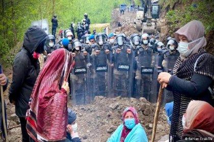 Rize Valiliği, halkın Cengiz İnşaat'ın taş ocağına karşı direnişte olduğu İkizdere'de eylem yasağı getirdi