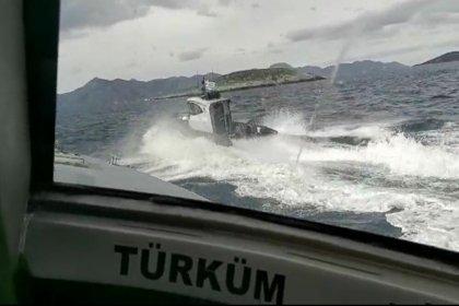 Sahil Güvenlik'ten 2 Yunan botuna müdahale