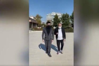 Muhittin Böcek'in yürürken görüntüsünü oğlu sosyal medya hesabından paylaştı