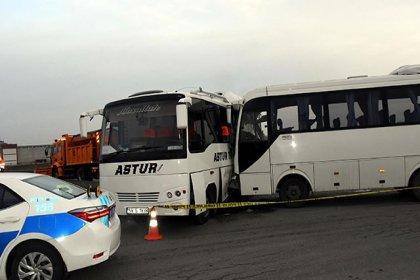 Tekirdağ'da işçi servisleri çarpıştı: 19 kişi yaralandı