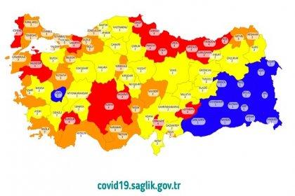 Türkiye için tedbirlerin uygulanacağı Covid-19 risk haritası yayınlandı; İstanbul turuncu renk ile yüksek riskli iller arasında
