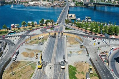 Unkapanı Köprüsü'nün yıkımı tamamlanıyor
