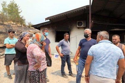 Yangınla mücadele eden Manavgat Belediye Başkanı Şükrü Sözen dolandırıcılar nedeniyle vatandaşları uyardı