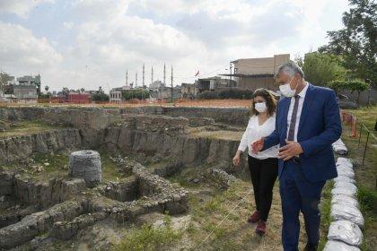 Zeydan Karalar Tepebağ Höyüğü'nde sürdürülen kazı çalışmalarını inceledi: Arkeopark yapılması düşüncesini benimsiyoruz